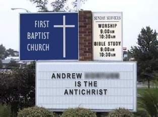 Andrew is the Antichrist